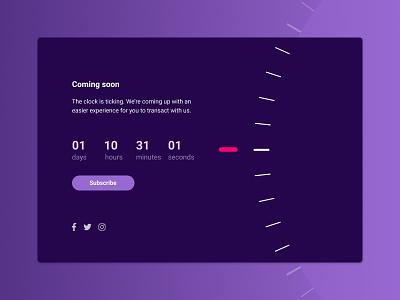 Daily UI 014 - Countdown Timer progress countdown timer ui app dailyui timer countdown