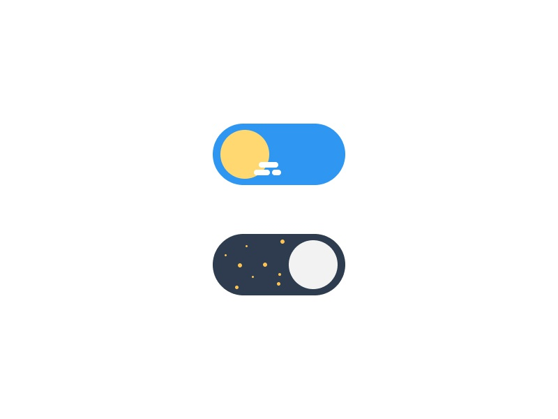 Daily UI 015 - On/Off switch toggle moon sun user interface on off switch dailyui