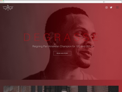 Andre DeGrasse Home Page Concept