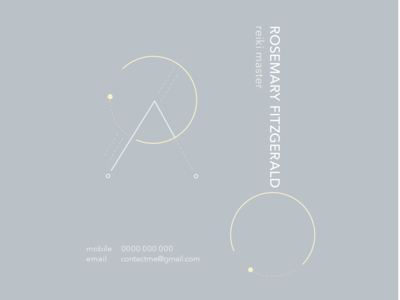 Reiki Business Card development