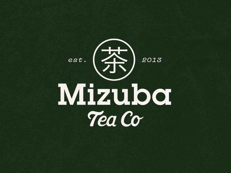 Mizuba Tea Co alternate logo design logo branding design illustrator lettering typography illustration