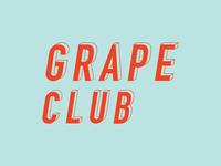 Grape Club Round 3 type illustrator logo lettering branding typography design