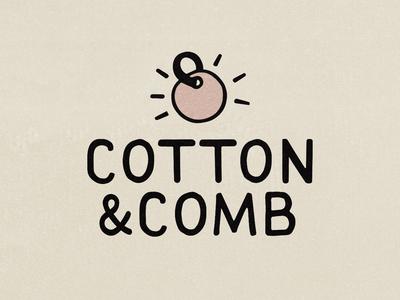 Cotton & Comb - handmade logo lettering logo typography illustration icon flat design branding