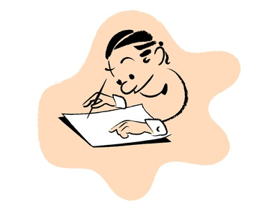 Some cartoons for my website brush chalk stroke sketch illustration