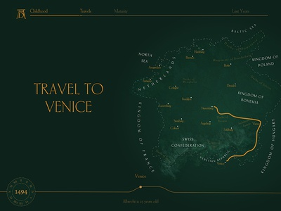 Albrecht Durer travels Venice empire germany durer history map