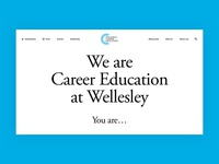 Wellesley Career Education work in progress