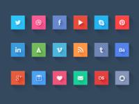 Social icons - freebie