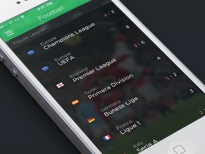 Livesport app concept sport app ios7 football screen score league