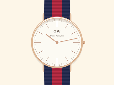 Daniel Wellington illustration - [GIF] watches wrist flat illustration effects clean oxford