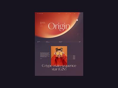 N° 02 Origin website layout design web concept layout typogaphy