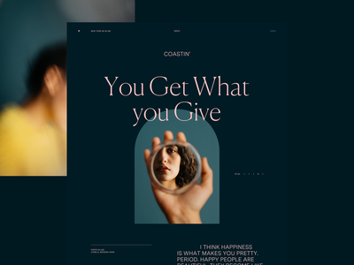 N° 03 You Get What You Give web typography layoutdesign website concept layout