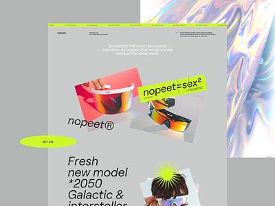 N° 04 nopeet sunglasses layoutdesign concept website layout typogaphy web
