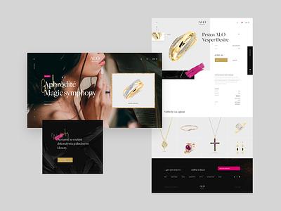 Alo Diamonds - ecommerce diamonds web ring jewelry fashion webdesign website ecommerce