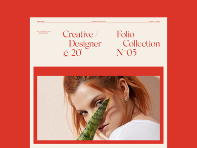 N° 05 Creative designer design website design portfolio layout concept website layoutdesign typography web