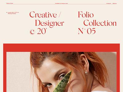 N° 05 Creative designer design website design portfolio layout concept website layoutdesign typography web