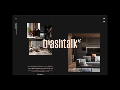 trashtalk® Interior Studio N° 07 video studio architecture interior webdesign website canvas transition typography layout unique