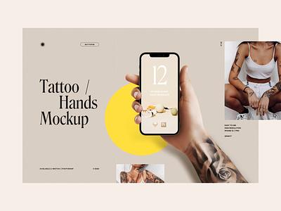 Tattoo Hand Mockup iPhone 12 & iPhone 12 Pro tattoo design freebie mockup mockup iphone 12 mockup iphone 12 pro iphone hand mockup tattoo mockup tattoo iphone 12 hand