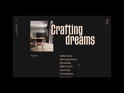 trashtalk® Interior Studio animation webdesign studio architecture animation video interior typography layout unique
