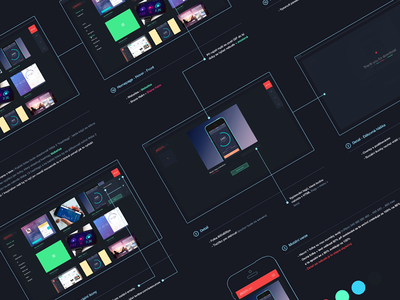 Diagram - Personal project [WIP] dark diagram prototype gallery after effects app