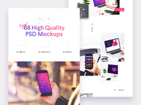 Behance Mockups Preview - Freebie colorful showcase app mockups workspace case study behance mockup
