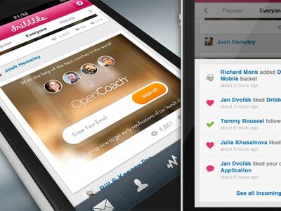 Dribbble iOS app
