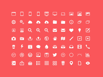 Tap Icons - 70 simple flat icons creative modern set icons set instagram icon facebook icon flat pin mail iphone macbook ipad mini
