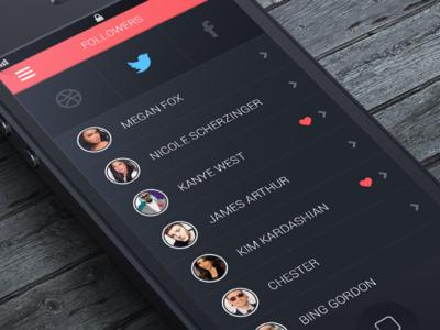 Social App app social follow twitter dribble facebook ios iphone app iphone