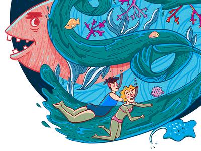 Sea voyage illustration