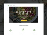 Cooking Courses | Landing page