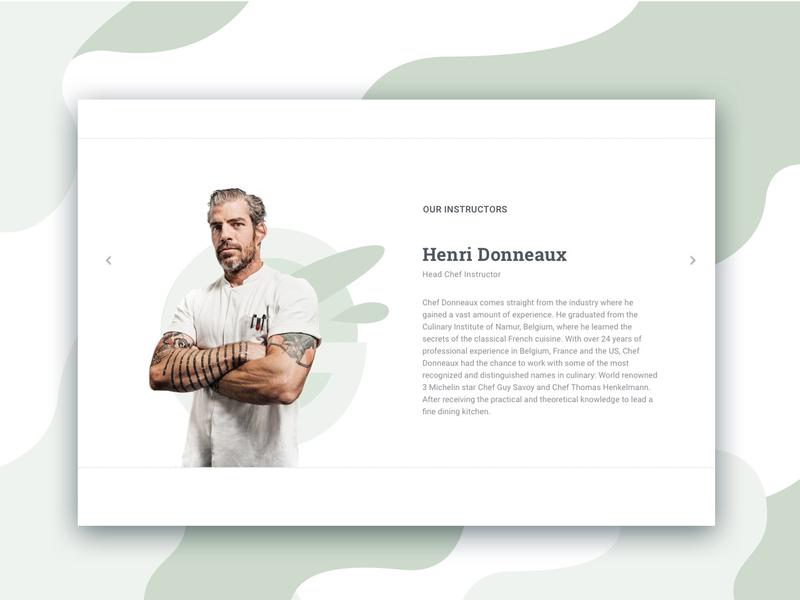 Instructors design web ui