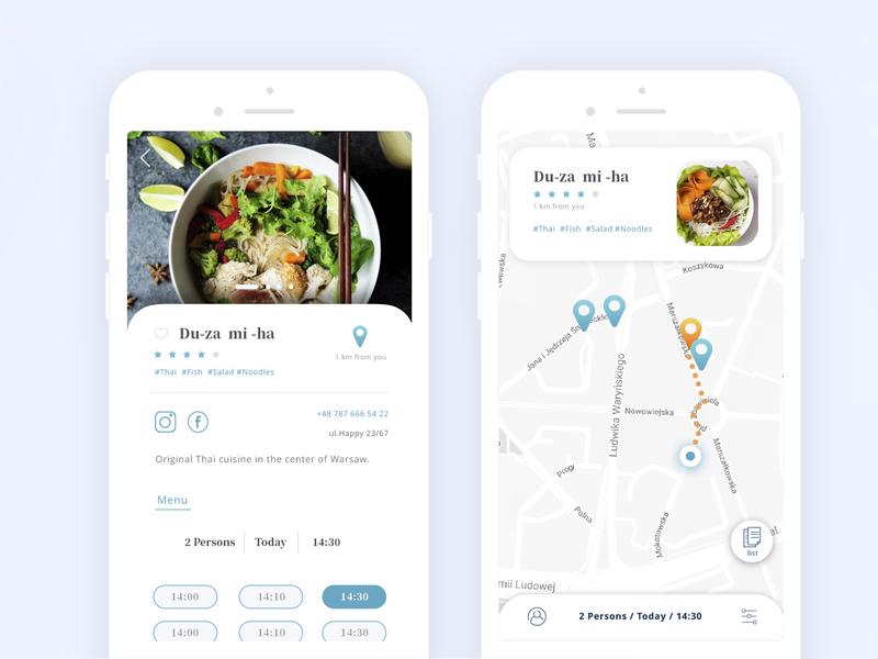 Restaurant Booking app restaurant mobile map booking design ux ui