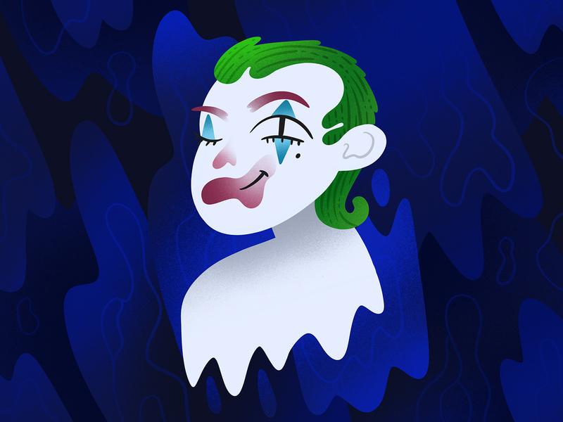 Joker art character joker movie blue illustration