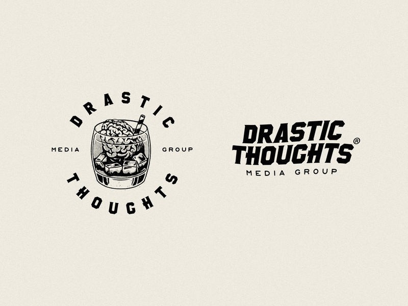 Drastic Thoughts Media Group app icon typography illustrator vector branding design graphics illustration logo