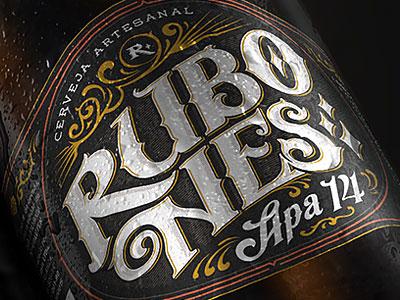 Rubones Brewing vector lettering typography illustration branding beer branding beer label logo beer brewing