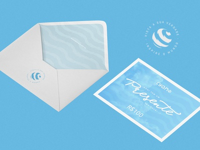 CYANO CLOTHING - Gift card design wear logo design vector logo jeans illustrator identity graphics stationery gift card label clothing brand clothing label clothing branding brand blue