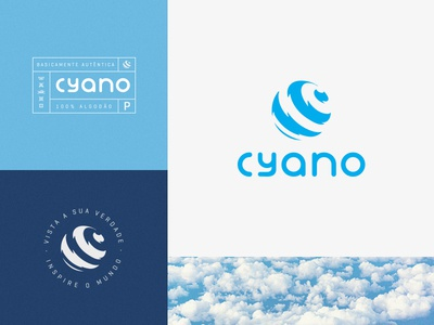 CYANO CLOTHING blue illustrator logo design jeans identity stationery label clothing brand clothing design vector branding graphics logo