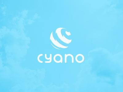 CYANO CLOTHING branding identity jeans water sky blue brand clothing design vector illustrator graphics illustration logo
