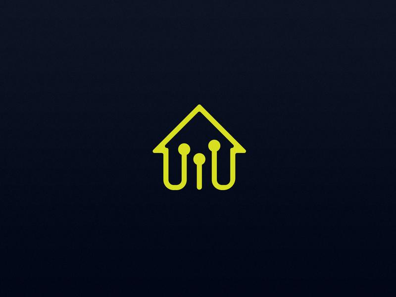 Connect Home graphics vector design identity minimalist icon branding brand minimal house logo logo design logo circuit house home connection connect