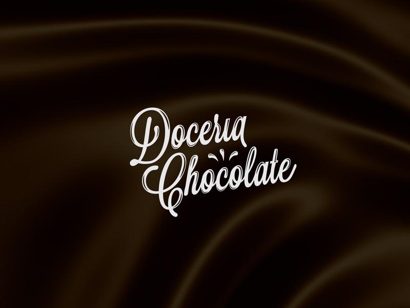Doceria Chocolate graphics illustrator design vector logo design logo identity branding brand store shop packaging chocolates candy chocolate