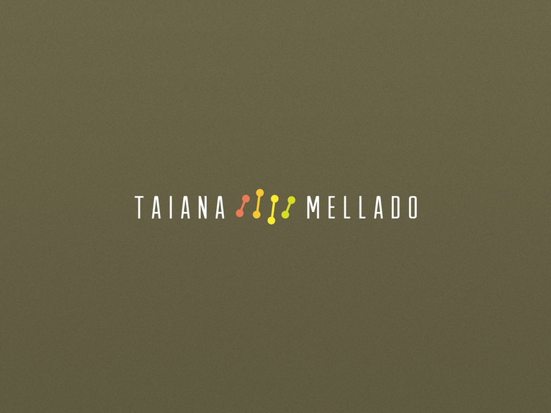Taiana Mellado - Nutrigenomics brand brazilian flat logo design medical nutritionist nutritional nutrition genetics genetic dna branding identity vector logo