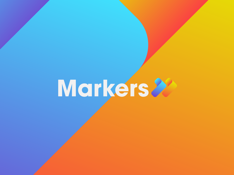 MARKERS arrow arrows agency branding agency marketing mark energy energetic flat logo design brand branding identity vector graphics logo
