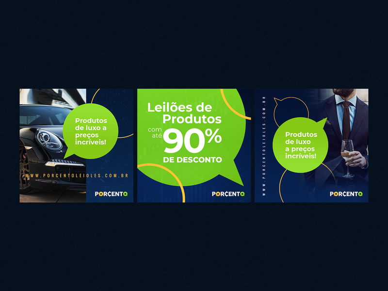 PORCENTO LEILÕES money penny brazil green blue luxury auctions auction app logo design brand branding identity vector graphics logo
