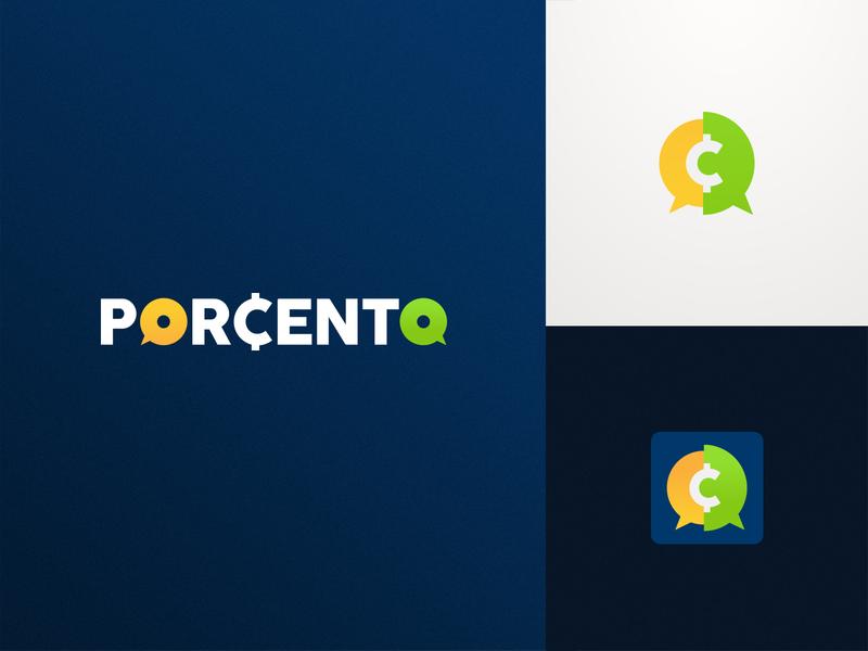 PORCENTO LEILÕES money app blue green penny brazil luxury money auctions auction design logo design brand branding identity vector graphics logo