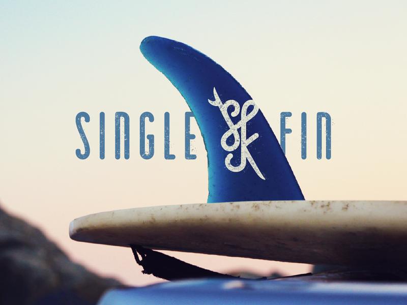 SINGLE FIN brand branding identity logo style sunset label clothing company clothing sun beach women woman lifestyle surfing surf