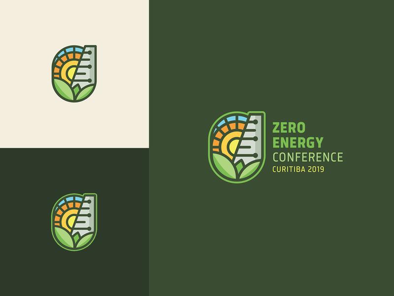 ZERO ENERGY CONFERENCE 2019 nature solar energy sun green enviroment renewable zero waste design logo design identity logo conference sustainability sustainable energy zero