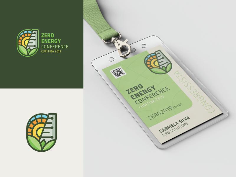 ZERO ENERGY CONFERENCE 2019 zero waste zero sustainable sustainability sun solar energy renewable nature logo design logo identity green clean energy environment design conference
