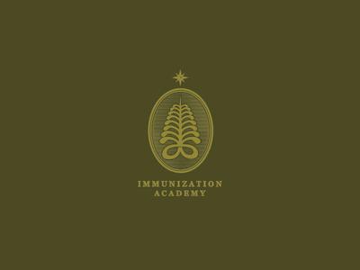 Immunization Academy children needle africa star academy immunization clean flat logo