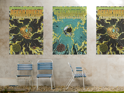 Posters for Ocean Breeze Tropical Club