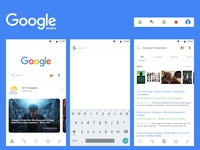 Google search app concept redesign