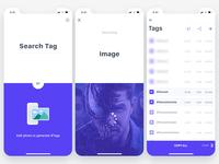 Hashtag generator app concept